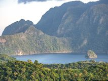 Coron island view from Mt.Tapyas, Palawan stock images