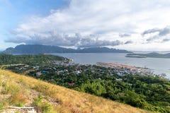 Coron town view from Mt.Tapyas, Palawan royalty free stock photos