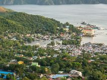 Coron town view from Mt.Tapyas, Palawan stock images