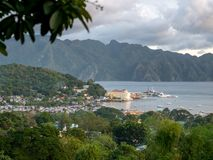 Coron town view from Mt.Tapyas, Palawan royalty free stock image