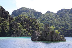 Coron tropisk ö Royaltyfri Foto