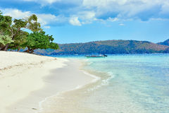 Coron white sand beach Palawan Philippines Stock Photography