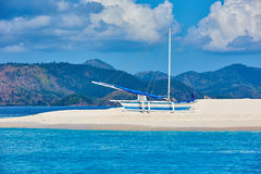 Coron white sand beach Palawan Philippines Royalty Free Stock Photography