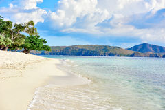Coron white sand beach Palawan Philippines Royalty Free Stock Photo
