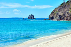 Coron white sand beach Palawan Philippines Stock Photo