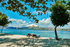 Coron white sand beach Palawan Philippines Royalty Free Stock Images