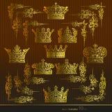 Corona, área, oro Fotos de archivo libres de regalías
