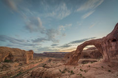 Corona Arch Sunset Image stock