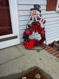 Corona benvenuta del pupazzo di neve fotografia stock libera da diritti