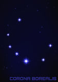 Corona Borealis konstellation Royaltyfri Bild