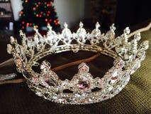 Corona chispeante del concurso de belleza Fotografía de archivo libre de regalías