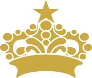 Corona con arte grafica di vettore di progettazione della stella Immagini Stock