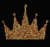 Corona con estilo de lujo del vintage de los ejemplos de los rayos ilustración del vector