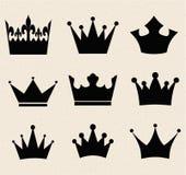 Corona con estilo de lujo del vintage de los ejemplos de los rayos stock de ilustración