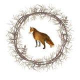 Corona con il Fox Immagini Stock
