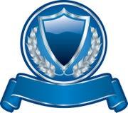 Corona d'argento blu Immagine Stock