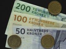 Corona danese & x28; DKK& x29; note, valuta della Danimarca & x28; DK& x29; Fotografia Stock