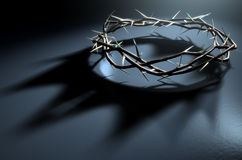 Corona de espinas con la sombra real ilustración del vector