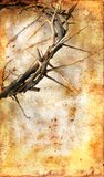 Corona de espinas en un fondo de Grunge fotografía de archivo libre de regalías