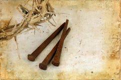 Corona de espinas y de puntos en Grunge imagen de archivo libre de regalías