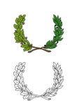 Corona de hojas Imágenes de archivo libres de regalías