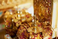 Corona de la boda Fotografía de archivo