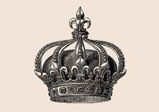 Corona de la casa Bourbon Foto de archivo libre de regalías