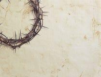 Corona de la espina en un fondo textured Fotografía de archivo libre de regalías