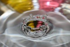 Corona de la gota del agua Fotos de archivo