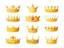 Corona de la historieta Corona imperial antigua de coronaci?n de la tiara del emperador del pr?ncipe de la reina de las coronas d libre illustration