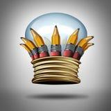 Corona de la innovación y de las ideas libre illustration