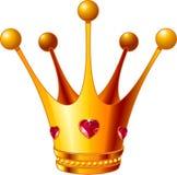 Corona de la princesa Foto de archivo libre de regalías