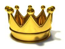 Corona de oro Imágenes de archivo libres de regalías