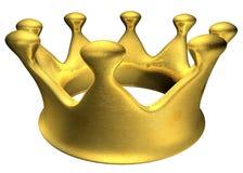 Corona de oro A Foto de archivo libre de regalías