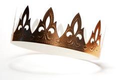 Corona de oro Imagen de archivo libre de regalías