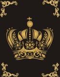 Corona de oro Foto de archivo libre de regalías
