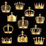 Corona de oro. Foto de archivo libre de regalías