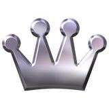 Corona de plata Fotografía de archivo libre de regalías