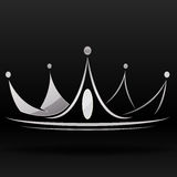Corona de plata stock de ilustración