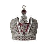 Corona de plata con las joyas foto de archivo