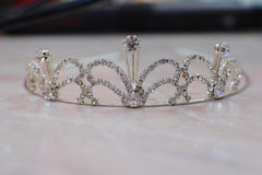Corona de plata de la novia Foto de archivo libre de regalías