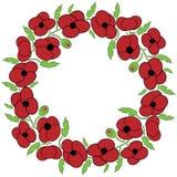 Corona dei fiori del papavero Immagini Stock Libere da Diritti