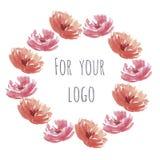 Corona dei fiori dell'acquerello Immagine Stock Libera da Diritti