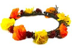 Corona dei fiori isolata Fotografia Stock