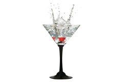 Corona del agua en vidrios de coctel Foto de archivo libre de regalías