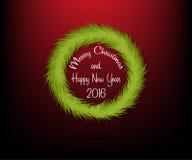 Corona del cerchio di Natale senza decorazione con testo Fotografie Stock