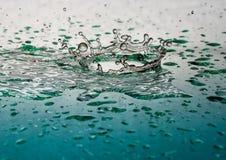 Corona del chapoteo del líquido Fotografía de archivo