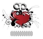 Corona del corazón Imagen de archivo libre de regalías