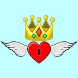 Corona del cuore Immagine Stock
