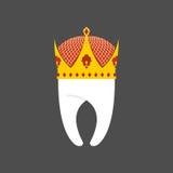 Corona del diente Real puro blanco Logotipo del ejemplo del vector para la abolladura ilustración del vector